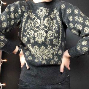 Vintage Escada Damask Sweater